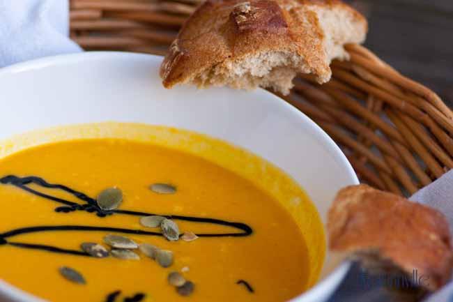 Pumpkin-Mans fruchtige Kürbissuppe II