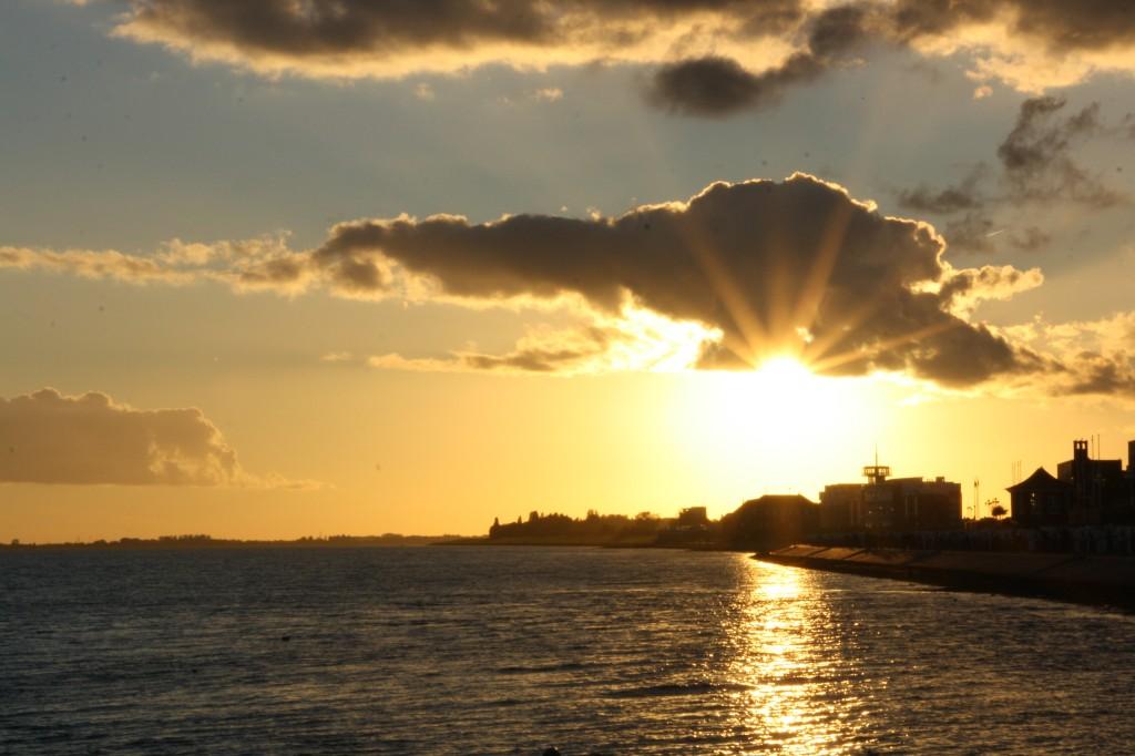 Sonnenuntergang in Wilhelmshaven