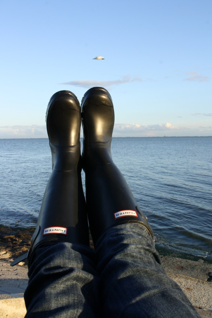 Hunter Boots am Meer