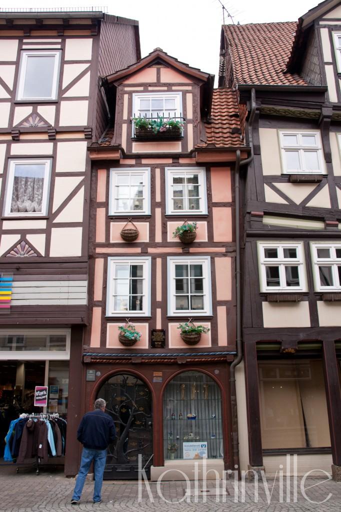 sehr schmales Fachwerkhaus in der Altstadt Hannoversch Münden