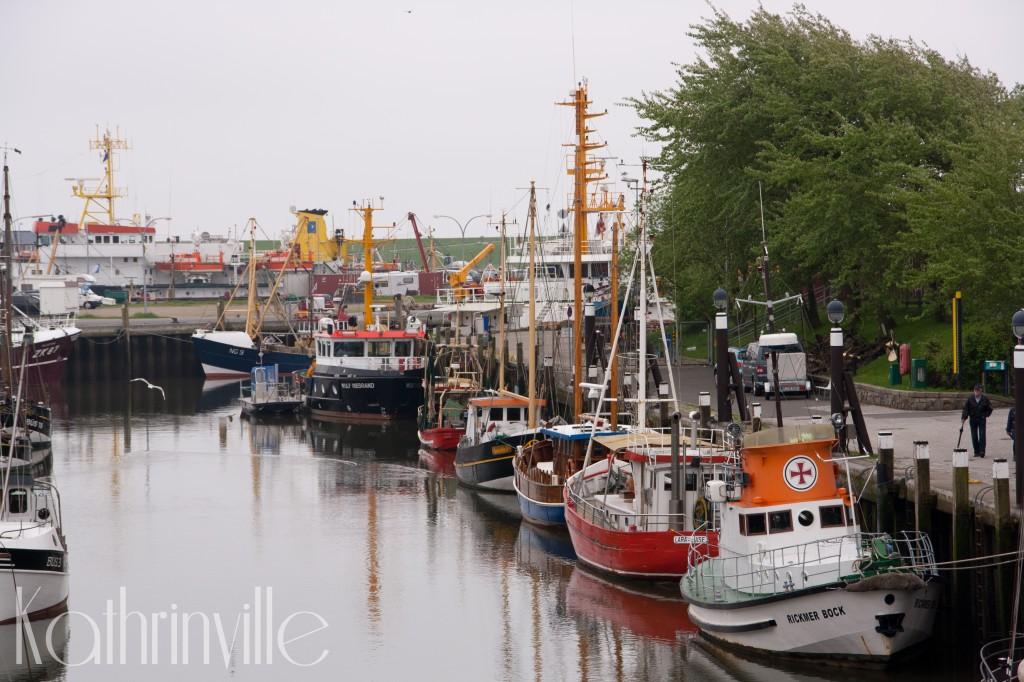 Schiffe am Büsumer Hafen