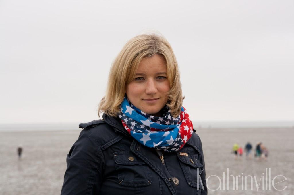 Kathrin im Wattenmeer vor Büsum