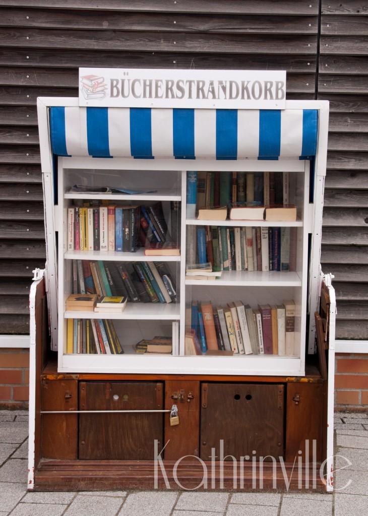 Bücherstrandkorb in Büsum