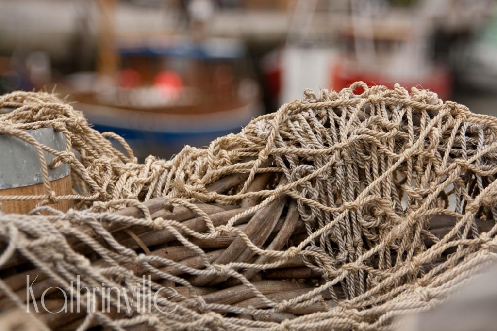 Fischernetz im Hafen von Büsum
