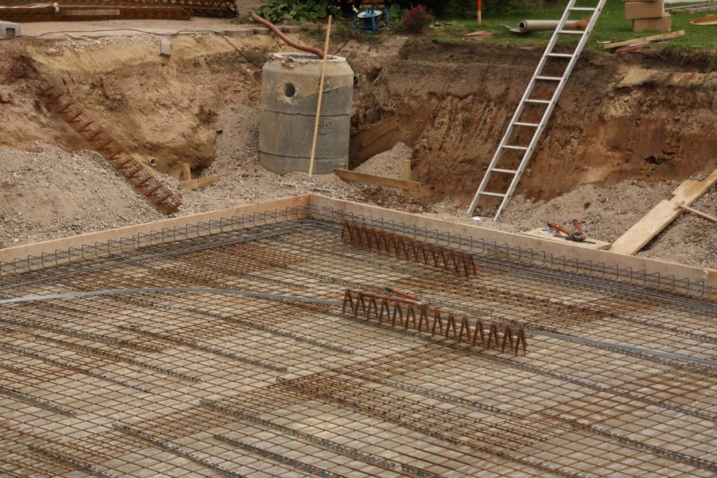 Baugrube, Stahlmatten, Brunnenschacht
