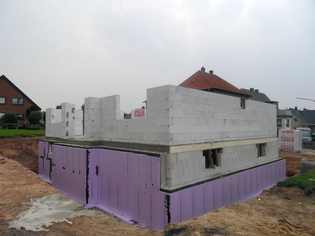 Rohbau - Erdgeschosswände